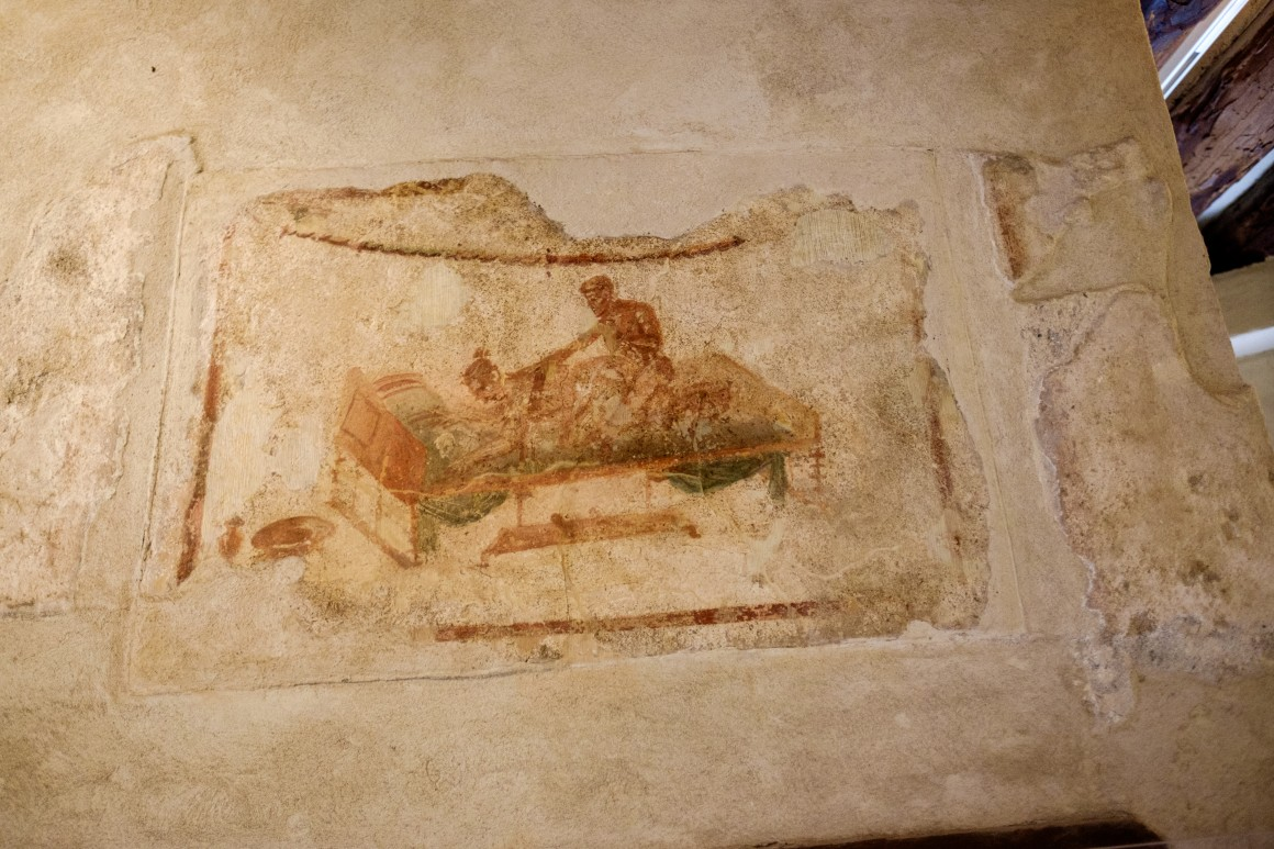 fresco inside the brothel